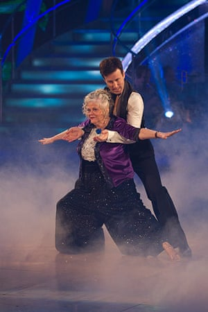 Anne Widdecombe dancing : Anne Widecombe on Strictly come dancing