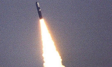 A Trident missile