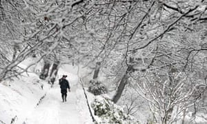 Snow and travel disruption across UK – live coverage | News