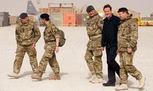 David Cameron in Afghanistan