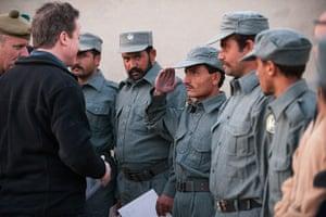 Cameron in Afghanistan : British Prime Minister David Cameron Visits Troops In Afghanistan
