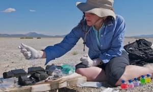Felisa Wolfe-Simon at Mono Lake in California | Arsenic bacteria