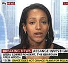 Afua Hirsch on Sky News on 7 December 2010. Photograph: Sky News
