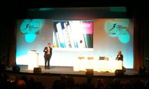 John Sheridan talking at Online Information 2010