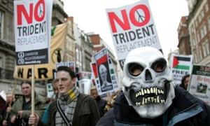 Protesters at a February 2007 march through central London against renewal of Trident