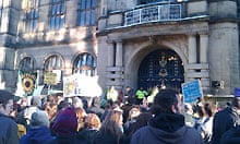 Sheffield student protest