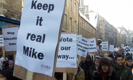 Local Lib Dem MP Mike Crockart was singled out in banners in Edinburgh's demo2010 march
