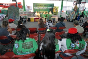 COP16 updates: A forum at Via Campesina climate camp, an international movement of peasants
