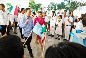 COP16 updates: Children greet UN secretary general Ban Ki-moon