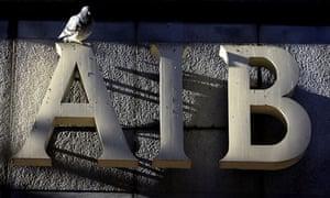 Allied Irish Banks sign on Grafton Street,  Dublin