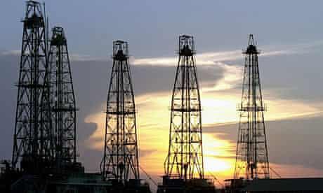 An oil rig west of Caracas, Venezuela