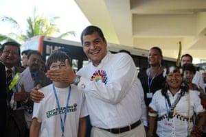 COP16 updates: Felix Finkbeiner with President Correa of Ecuador