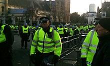 Student protest Parliament Square