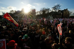 student protest update: Protestors demonstrate in Parliament Square