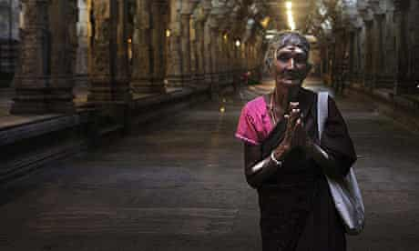 A Tamil woman prays at a temple in Colombo, Sri Lanka.