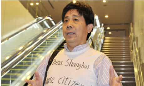 Human rights activist Feng Zhenghu has been stranded at Tokyo airport
