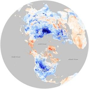 Satellite Eye on Earth: Arctic Oscillation and Northern Hemisphere