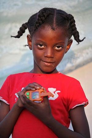 Haiti - What I saved: Berverly Despergnes saved her toy guitar
