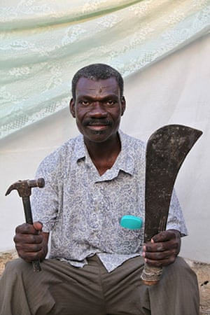 Haiti - What I saved: Hilaire Jean- Lous is a pastor and a carpenter