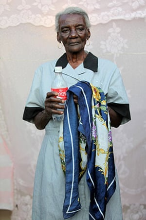 Haiti - What I saved: Laurianne Garcon saved her favorite scarf