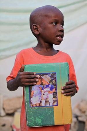 Haiti - What I saved: David Bertrand saved his family's photo album