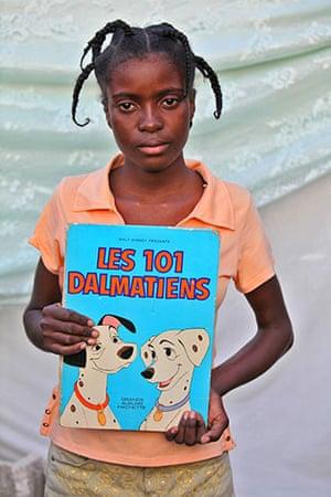 Haiti - What I saved: Jocelyne Pierre saved a book: 101 Dalmatiens