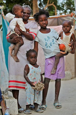 Haiti - What I saved: The kids have a few toys and the grandmother saved a big cooking pot