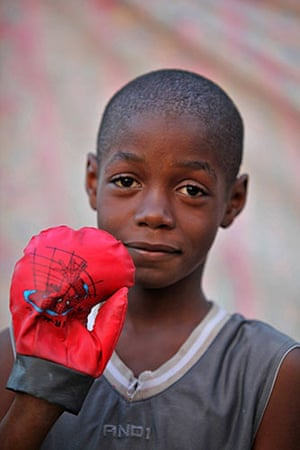 Haiti - What I saved: Steve David wants to be a boxer so he saved his boxing glove
