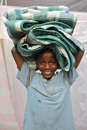 Haiti - What I saved: John Francois saved a blanket so he would have something to sleep on