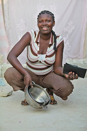 Haiti - What I saved: Nerly Uscar saved cooking stuff so she could feed her child