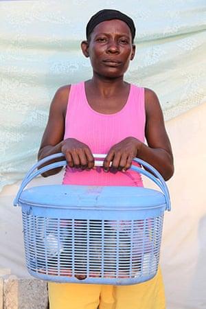 Haiti - What I saved: Lina Exorf saved a blue basket with a few essentials