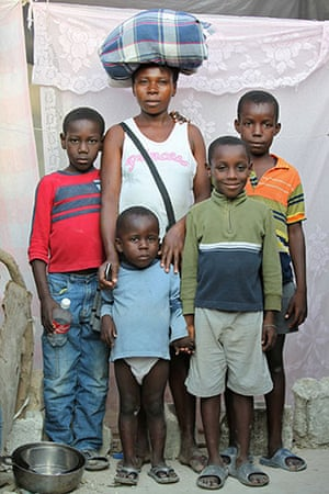 Haiti - What I saved: Myrlene Merssant saved some bedding