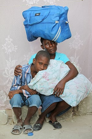 Haiti - What I saved: Natalie Piere and her son Stanley Agee