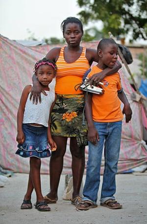 Haiti - What I saved: Louna Henry with her children Leandie Dupera and Woodjenie Dupera