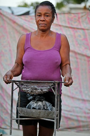 Haiti - What I saved: Suzette Batichon saved a portable grill so she could cook