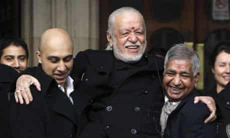 Davender Ghai celebrates after winning the right to be cremated on an open-air funeral pyre.