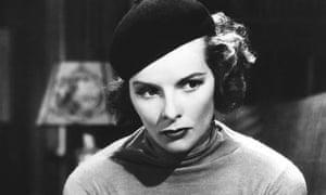 Actress Katharine Hepburn Wearing Beret
