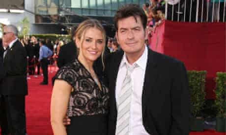 Happier times . . . Charlie Sheen and Brooke Mueller.