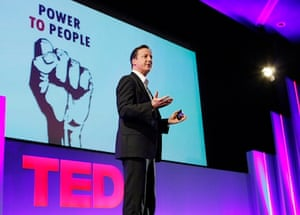 David Cameron addressed the TED conference