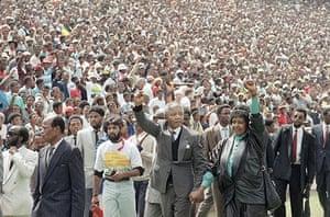 Mandela prison release: February 13 1990: Nelson and Winnie Mandela