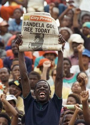 Mandela prison release: 11 February 1990: A jubilant Sowetan