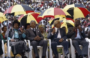 Mandela prison release: 2 March 1990: Nelson Mandela attends his first party meeting as a free man