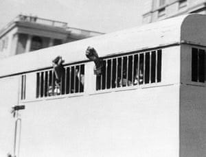 Mandela prison release: 16 June 1964: Eight men, among them Nelson Mandela