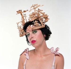 Alexander McQueen: 2005: Isabella Blow wearing hat by Philip Treacy and Alexander McQueen