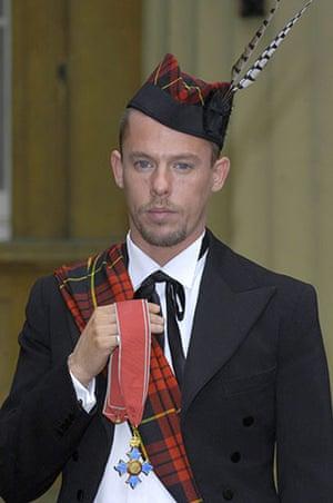 Alexander McQueen: 2003: Alexander Mcqueen With His CBE Investitures At Buckingham Palace