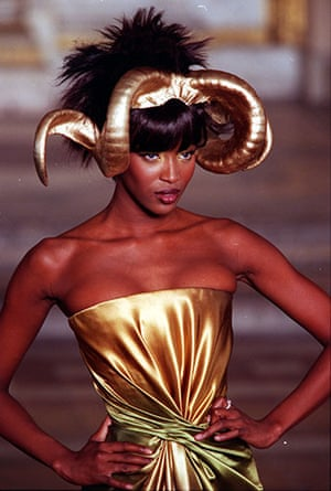 Alexander McQueen: 1997: Naomi Campbell modelling The Givenchy Collection By Alexander McQueen