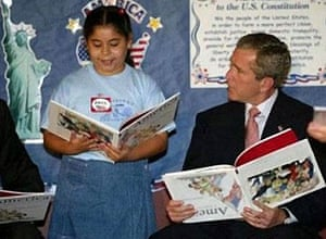 Photoshop at 20: George Bush reads a book upside down