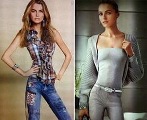 Photoshop at 20: Ralph Lauren adverts with digitally altered images of models look thinner
