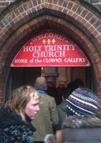 The Joseph Grimaldi memorial service at Holy Trinity, Dalston, east London