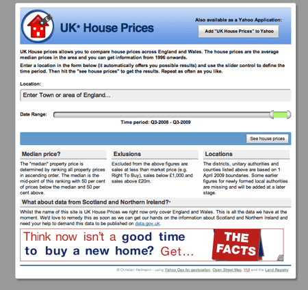 House Prices website